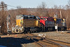 "Another ""rainbow consist"" from NECR eases across the diamond at MP83 in Palmer MA.<br /> 2/6/2019"