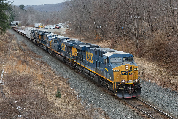 Mystery train with 560 axles...From the bridge in West Warren, it looks like Q426 but in Palmer it had to have 2 additional units brought from Worcester (Q022 power?) and was referred to as 022.<br /> 1/29/2019