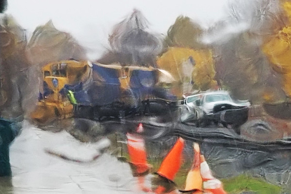 Pouring today so shooting through the windshield...kind of fun...<br /> NECR crosses the Palmer MA diamond.<br /> 10/31/2019