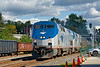 On time Amtrak 449 breaks into the sunshine at MP83 in Palmer MA.<br /> 9/17/2019