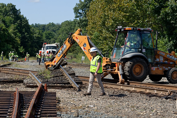 PTC mandated derail switch installation at MP83 in Palmer MA.<br /> 8/26/2019