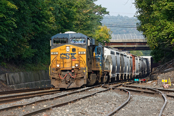 Running at track speed, Q426 rolls into the CSX yard at MP83.<br /> 9/23/2019