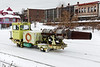 CSX called in the big guns - the Snow Jet - to clear snow and ice from switches.<br /> 12/4/2019