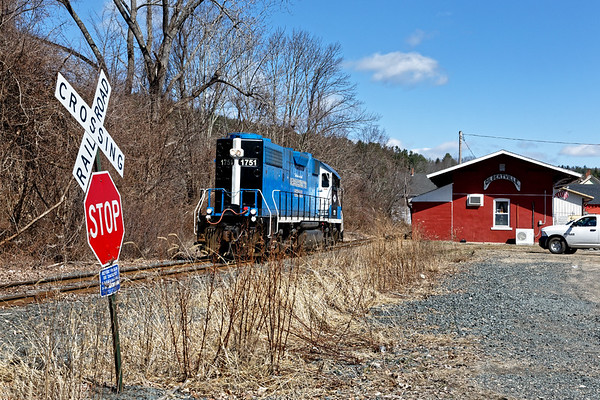 MCER 1751 south through Gilbertville MA.<br /> 4/1/2019