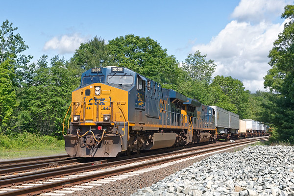 Q012 eastbound at MP60 with a short train.<br /> 6/14/2019