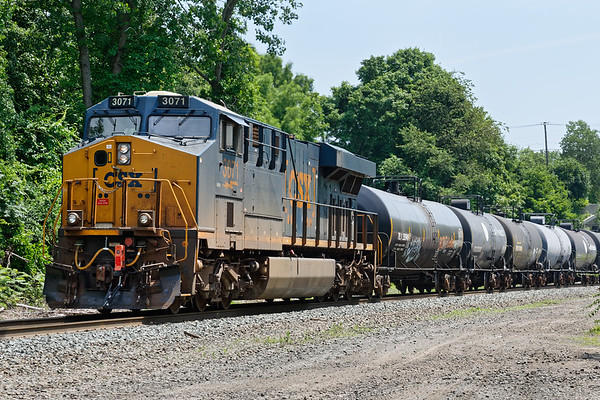 CSX 3071 was the pusher at the tail end of the 115 car Q426.<br /> 7/5/2019