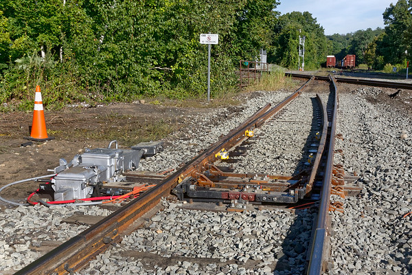 The next morning...<br /> One of the derail switches installed at MP83, a PTC mandated safety feature designed to prevent unauthorized access to the diamond. They are designed to default to derail mode until permission to access the diamond is given.<br /> 8/27/2019