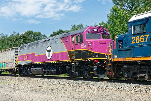 "The hint of purple turns out to be one of the refurbished ""T"" units returning home.<br /> 7/5/2019"