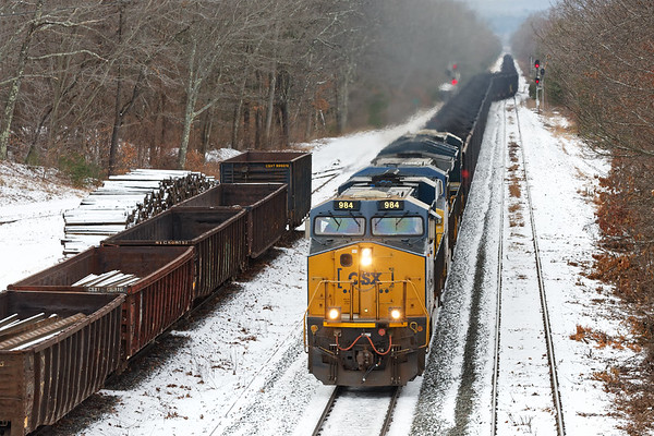 Next up was a unit coal train for the power plant at Bow, NH.<br /> 12/21/2019