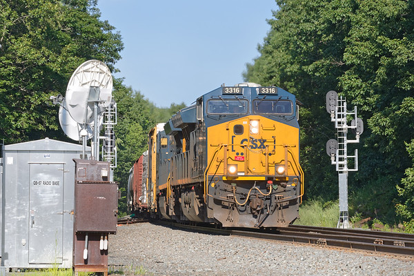 Q436 splits the signals at MP57 in Charlton MA.<br /> 7/9/2019