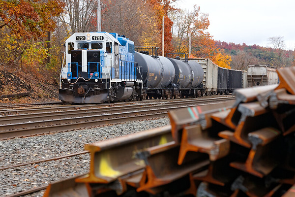 MCER 1751 switching the Palmer MA yard.<br /> 10/30/2019