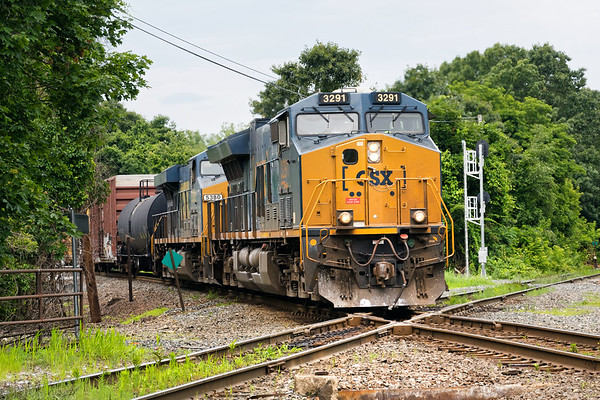 Train Q426 hits the diamond at MP83.<br /> 7/2/2019
