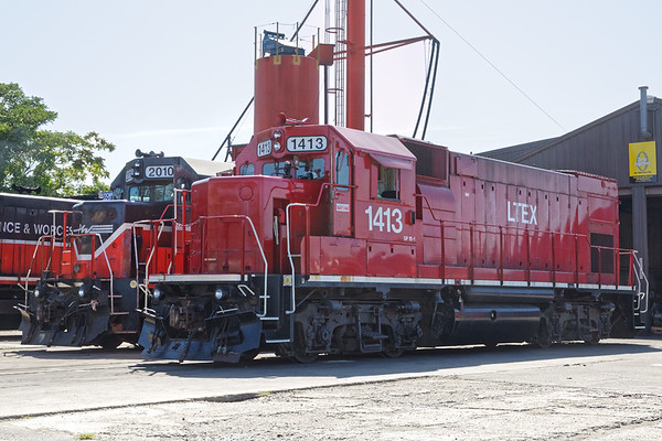 LTEX 1413 sits quietly outside the P&W engine house in Worcester MA.<br /> 8/20/2019