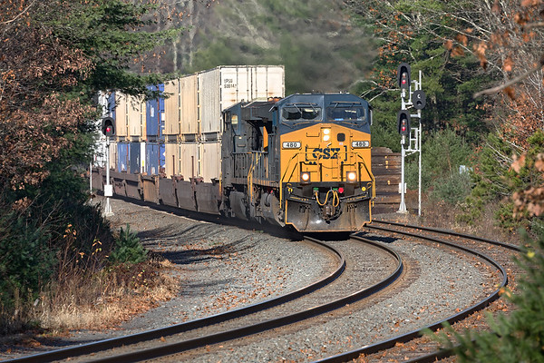 A rather diminutive Q012 splits the signals at MP60 in Spencer MA.<br /> 11/4/2019