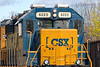 B740 eases into the CSX yard at MP83 in Palmer MA.<br /> 4/24/2019