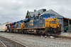 CSX 735, 3071 and CN 3139 leading a long Q263 at MP83 in Palmer MA.<br /> 4/10/2019