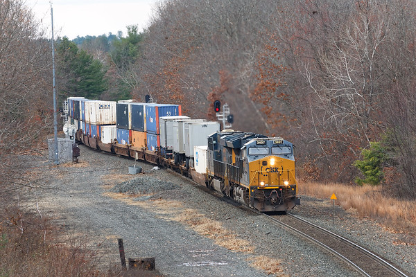 022 was running very slow and I was able to catch it at MP57 in Charlton MA.<br /> 11/15/2020
