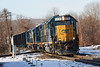 Happy New Year!<br /> We're starting 2020 with B740's four units clattering across the diamond at MP83 in Palmer MA.<br /> 1/2/2020