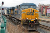Q022 rolls through MP83 in Palmer MA with an interesting mix of containers and TOFCs.<br /> 12/28/2020