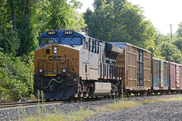 Q436's DPU bringing up the rear of a long train.<br /> 8/17/2020