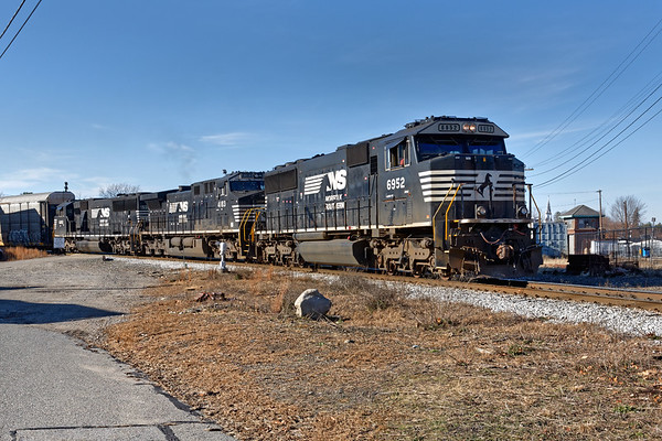 Train 22K makes a bob on the east wye of the Hill Yard in Ayer MA.<br /> 12/3/2020