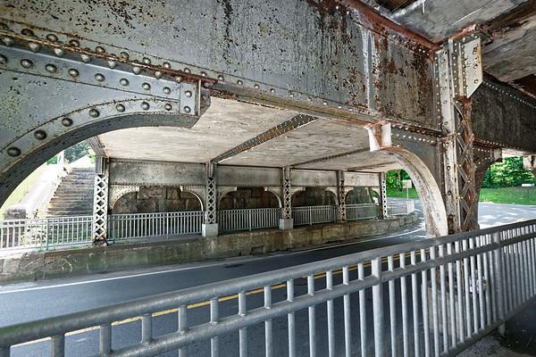 1911 railroad bridge in Warren MA.<br /> 7/12/2020