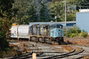 Pan Am train EDPO eases into the Gardner MA yard.<br /> Looks like there must have been a sale on blue paint in Gardner!<br /> 9/23/2020