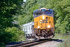 """With """"--SX"""" 865 on the point, Q436 climbs the grade near MP75 in West Warren MA.<br /> 6/17/2020"""