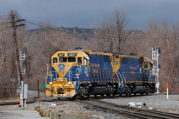 Right after Q436 cleared, NECR 3857 and 3844 take their turn across the Palmer diamond.<br /> 2/27/2020