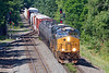 A little closer, a little clearer...<br /> Q436 from the main to the siding at MP64 in East Brookfield MA.<br /> 6/26/2020