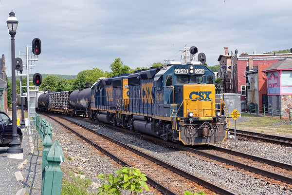 B740 takes the siding at MP83.<br /> 6/3/2020