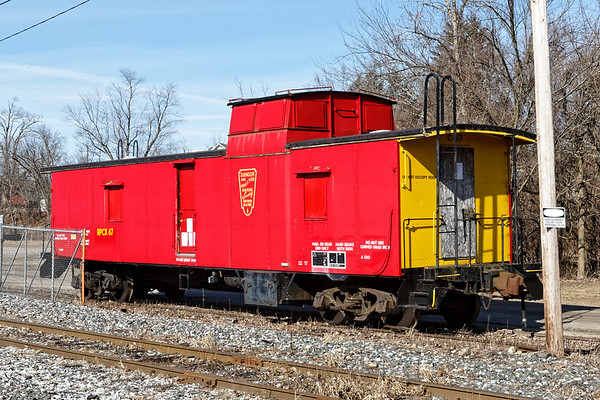 The owner of the Steaming Tender Restaurant has bought an old B&A caboose which is currently sitting on a siding in the NECR yard in Palmer MA.<br /> 2/17/2020