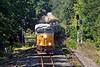 Train Q426 splits the signals at MP64 in East Brookfield MA.<br /> 8/23/2020