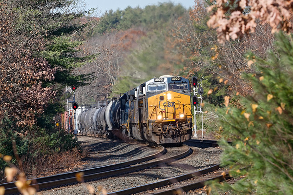 At the S-curves at MP60 in Spencer MA, in the last week and a half Q436 has seen us go from early Fall to Winter and back to late Fall.<br /> 11/9/2020