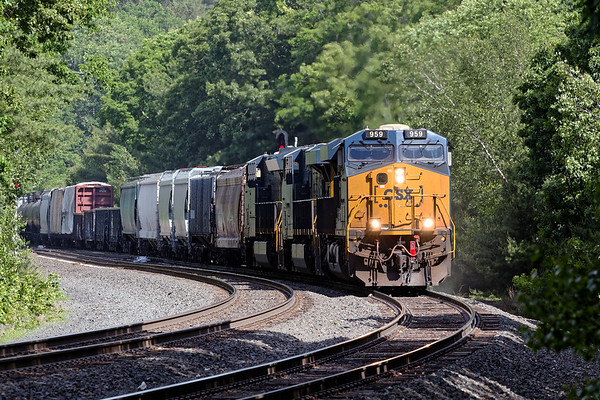 A couple of days ago I went to MP60 in Spencer MA and found Q436 pulling out of the siding after having dropped a cut of auto racks which had been tacked onto it's tail end.<br /> 6/10/2020