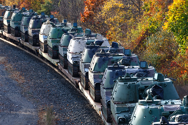 Tacked on to the end of Q427 were tanks, lots of tanks, being shipped from Loring AFB in Maine where they had been stored for years.<br /> 10/26/2020
