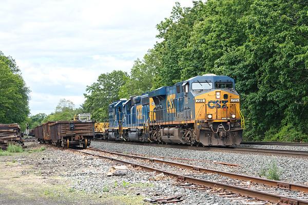 Rail train crawling through MP64.<br /> 6/1/2020