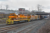More G&W color - B&P 3000 and NECR 3478 back down into the CSX yard at MP83 in Palmer MA.<br /> 12/1/2020
