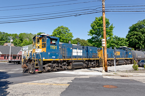 G&U 1191 and 1158 switch their transload yard in North Grafton MA.<br /> 5/27/2020