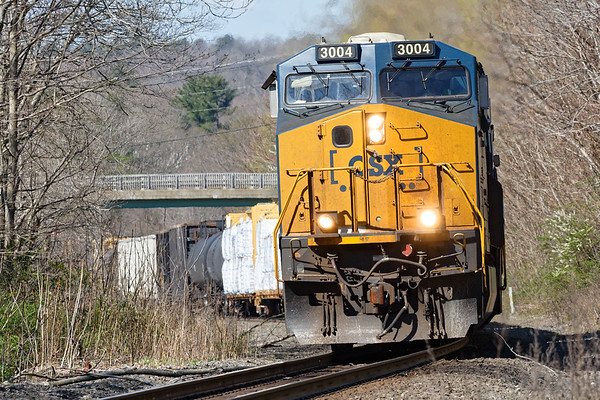 Q436 was held temporarily at MP79 so I caught it coming up the hill near MP75 in West Warren.<br /> 5/7/2020
