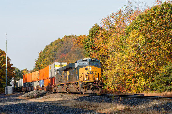 Q008 through some Fall color at MP57 in Charlton MA.<br /> 10/19/2020