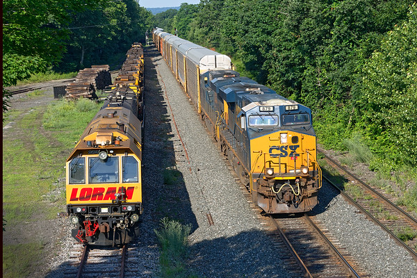 Hangin' with LORAM...<br /> Half an hour later Q264 comes by the very quiet Loram.<br /> 7/6/2020