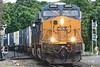 Train 008 across the Palmer MA diamond.<br /> 6/3/2020