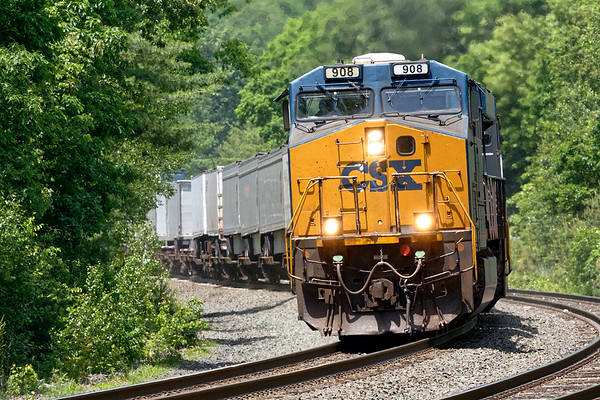 A short while later, back at MP60, Q008 came through at track speed on the main.<br /> 6/10/2020