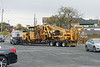 The Harsco 6700SJ tamper that's been sitting unused in the NECR Palmer yard was hauled away this morning.<br /> 10/2/2020