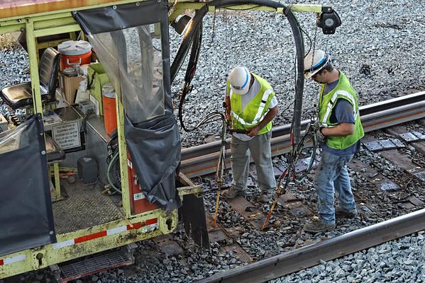 CSX track gang laying ribbon rail at MP57, Charlton, MA on the CSX Boston Line - 9/17/2012 - 598C1610dK