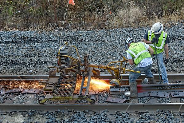 CSX track gang laying ribbon rail at MP57, Charlton, MA on the CSX Boston Line - 9/17/2012 - 598C1536dK