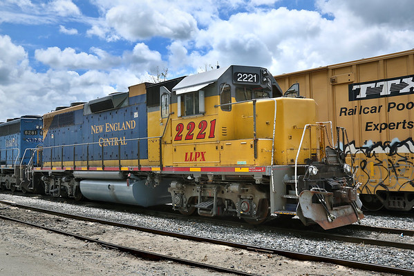 NECR (LLPX) 2221 in the NECR yard at MP83. Palmer, MA. 5/23/2012 - 598C7956dK