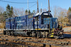 NECR 417 sits in the CSX yard at MP83, Palmer, MA. 11/14/2012 - 598C3780dK