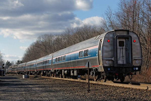 Surprise - caught me with a long lens on... Amtrak 449 with two units and ten cars at MP57, Charlton, MA. 11-26-2012 - 598C4075dK